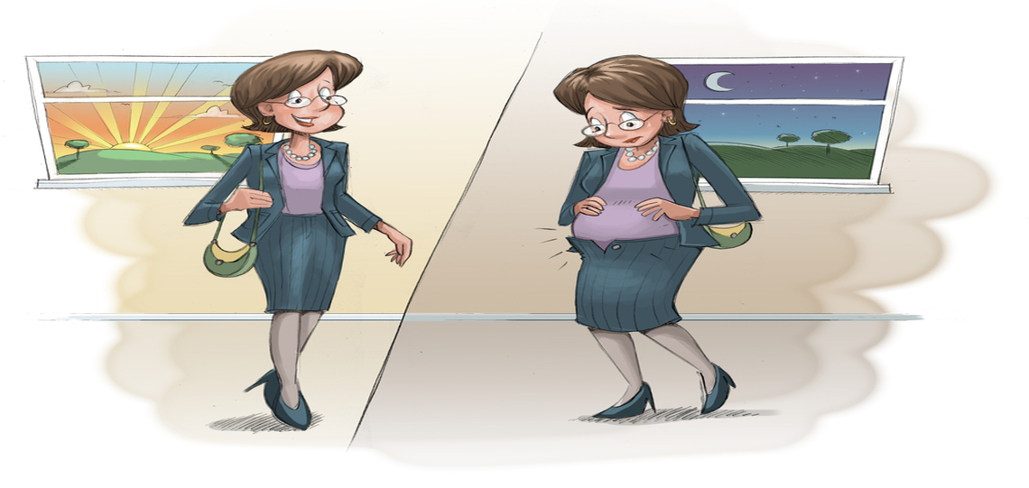 bloated women