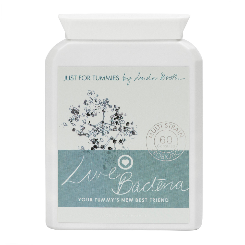 Live Bacteria Capsules, Digestive Probiotic Supplement for IBS, Bloating