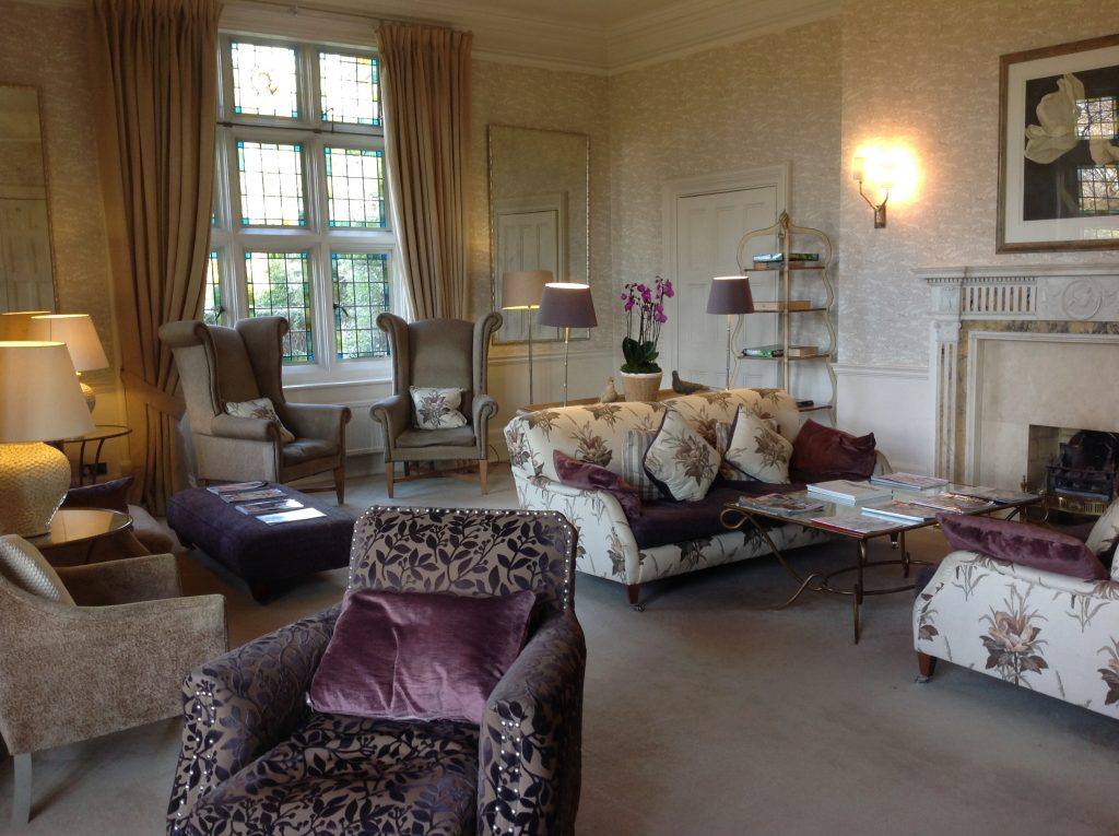 The drawing room at Grayshott. A wonderful place to relax and read the papers and magazines