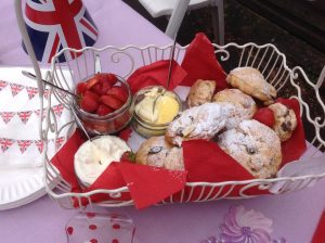 fresh cream and scones