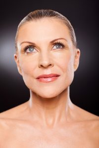beauty potrait of elegant middle aged woman