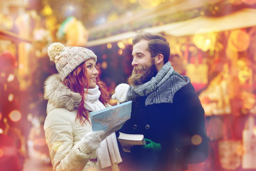 romantic couple christmas