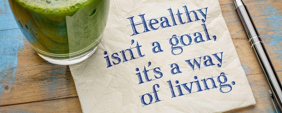 Healthy isnt a goal