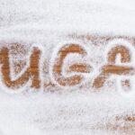 The word sugar written in sugar