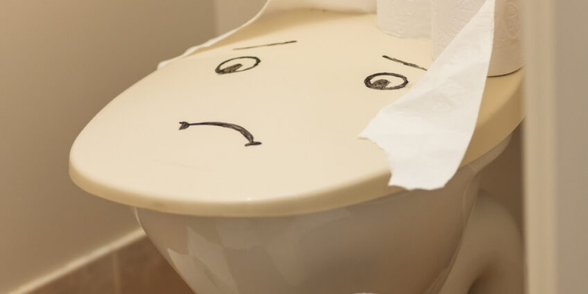 An unhappy toilet due to someone with Bile Acid Malabsorption