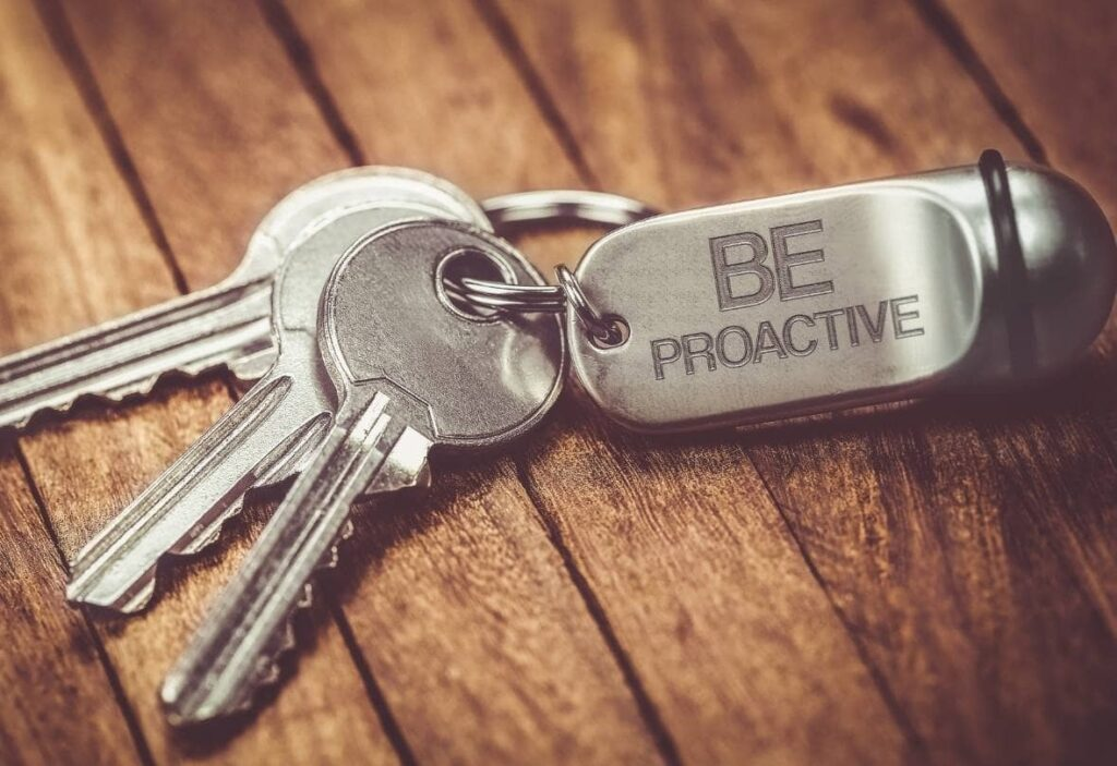 Be proactive keyring